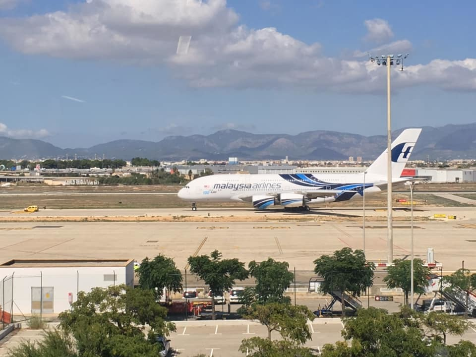 A380 at Palma airport