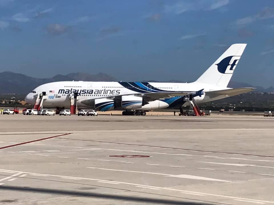A380 @ Palma Mallorca Airport
