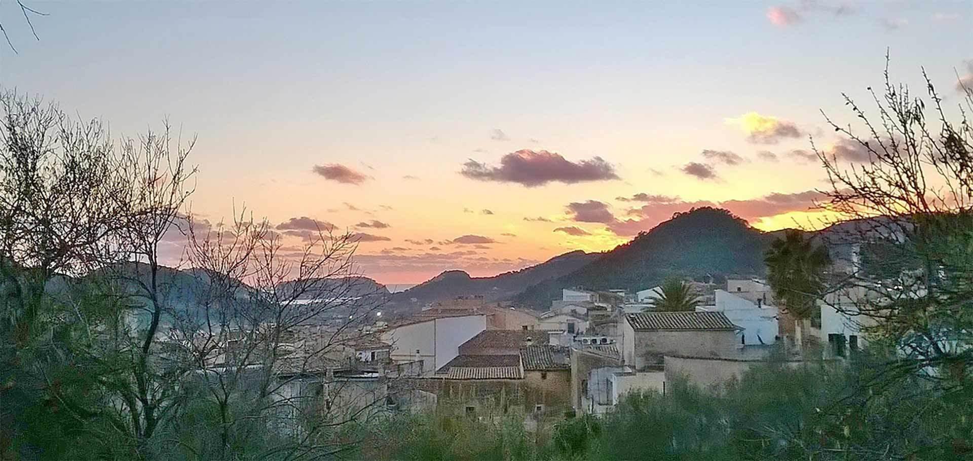 Andratx Port Mountain Sunset