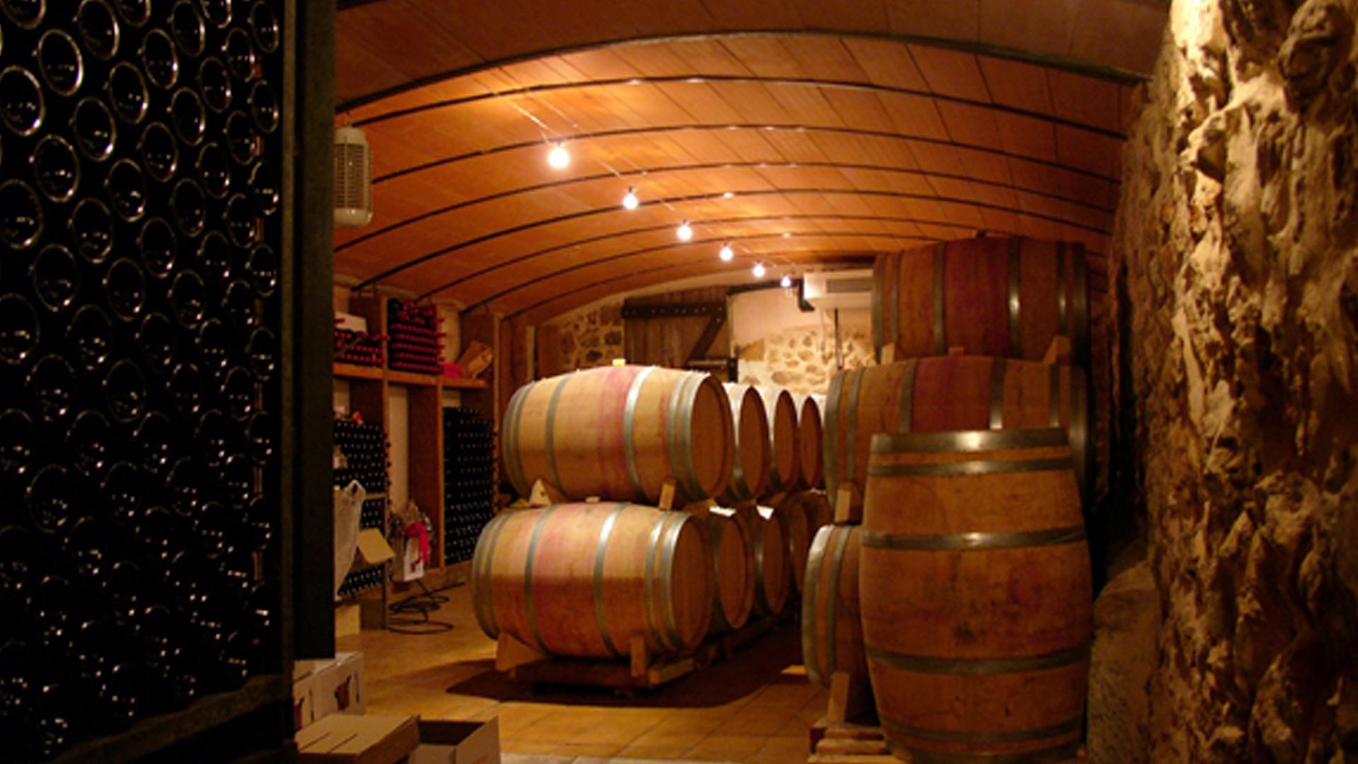 Es Verger winery mallorca barrels