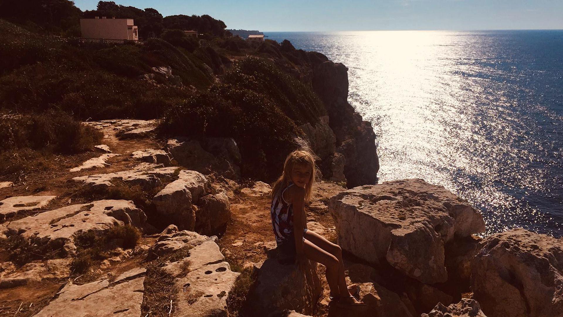 Mallorca camper van sun sea view