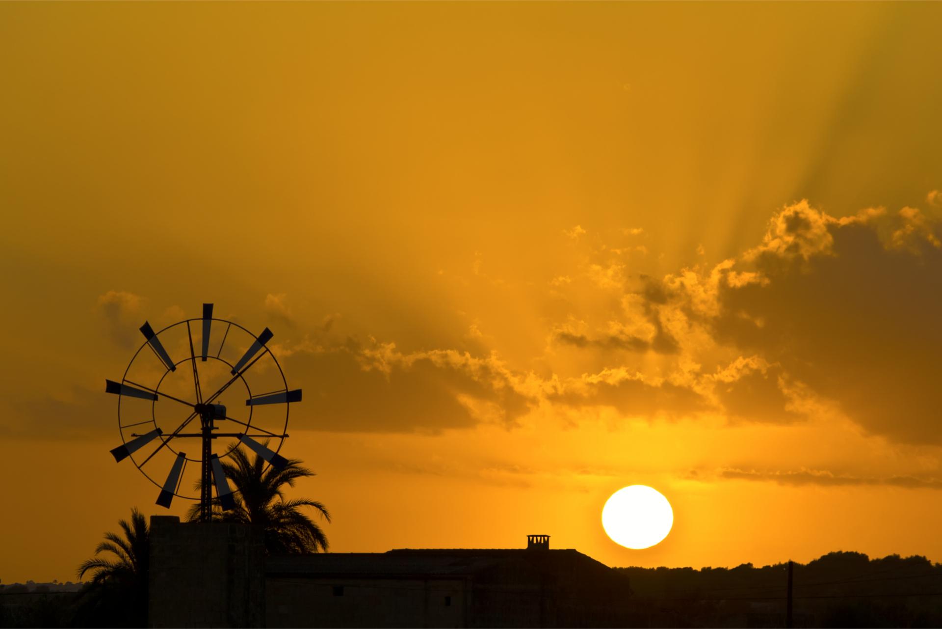 Windmills Sunset View 1