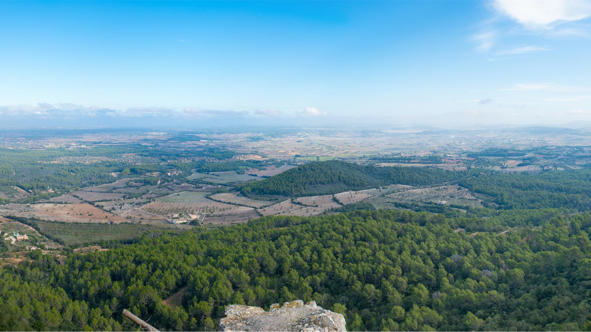 Aerial view monastery santuari de cura