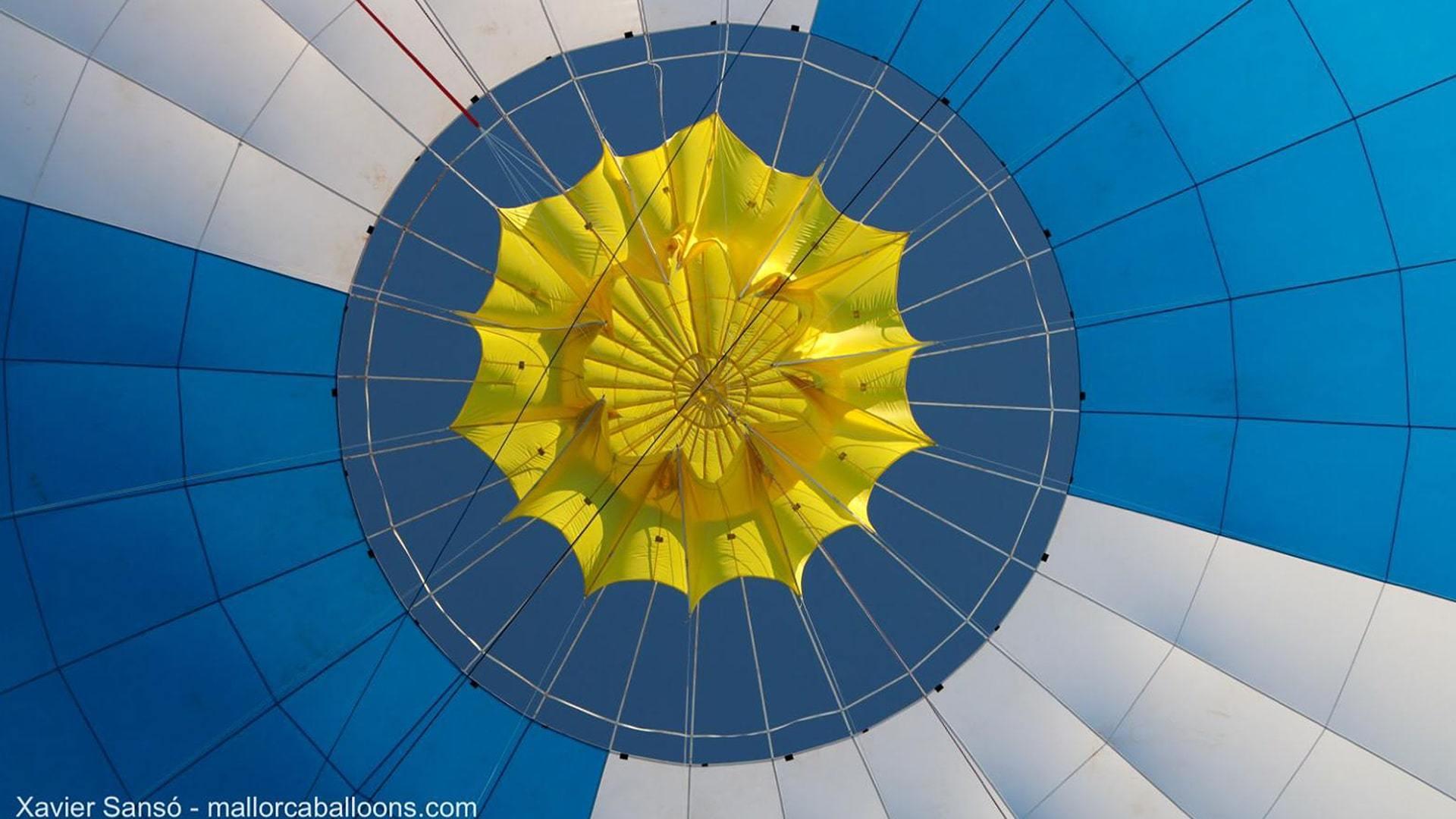 Inside of a hot air balloon mallorca championships min